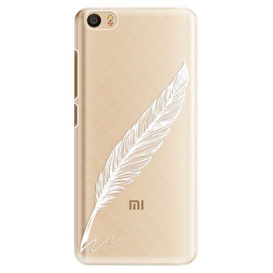 iSaprio Plastový kryt - Writing By Feather - white pre Xiaomi Mi5