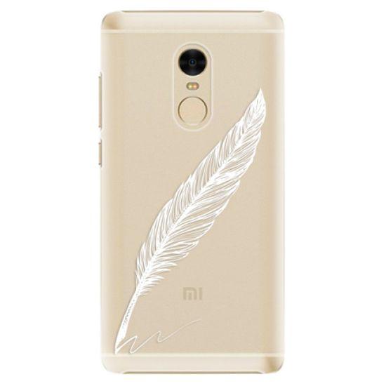 iSaprio Plastový kryt - Writing By Feather - white pre Xiaomi Redmi Note 4