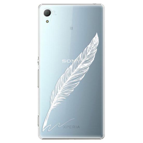 iSaprio Plastový kryt - Writing By Feather - white pre Sony Xperia Z3+/Z4