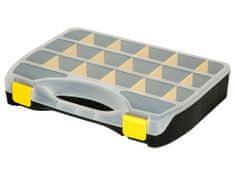 Extol Craft Organizér, 19 přihrádek, 368x271x67mm, plastový, s měnitelnou velikostí přihrádek