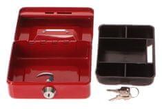 Extol Craft Schránka na peníze přenosná s otvorem pro mince, 125×95×60mm, 2 klíče