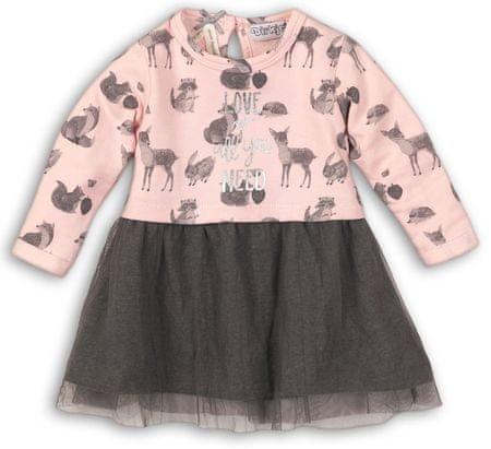 Dirkje haljina za djevojčice, 74 roza