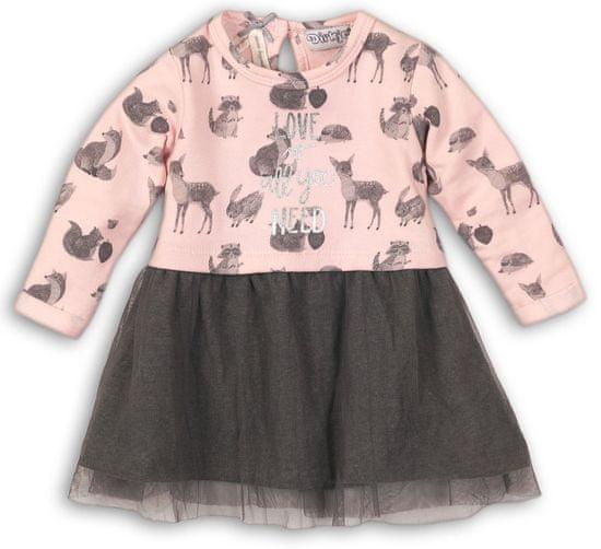 Dirkje dívčí šaty 68 růžová