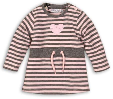 Dirkje lány ruha 80 rózsaszín/szürke