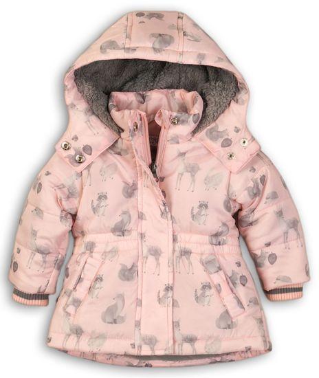 Dirkje dívčí bunda se zvířátky 98 růžová