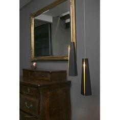 Faro FARO PLUMA LED černá a zlatá závěsná lampa 64172