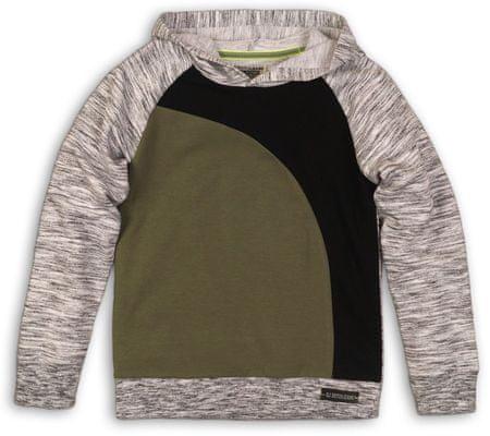Dirkje fantovski pulover s kapuco, rjavo-siv, 134