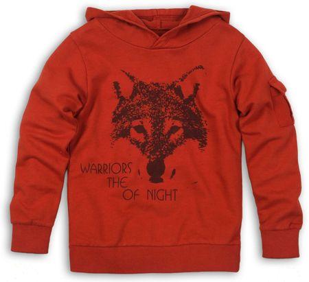 Dirkje pulover za dječake s vukom, crveni, 134