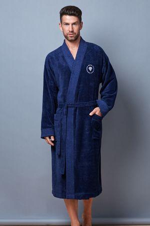 L&L Pánsky župan Fabio blue, modrá, 182 XL