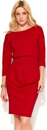 Makadamia dámské šaty červená 36