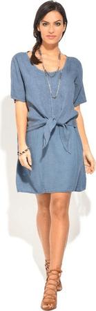 Lin Nature dámské šaty ROBE MURIEL modrá 36