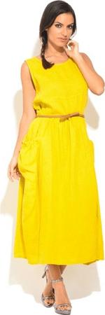 Lin Nature sukienka damska ROBE ZITA 40 żółta