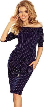 Numoco dámské šaty 13-89 tmavě modrá L