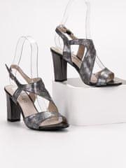 Stylomat Stříbrné sandálky
