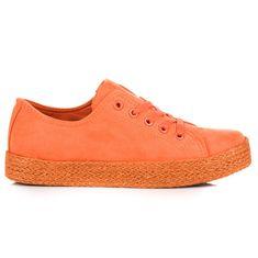 Stylomat Oranžové tenisky espadrilky
