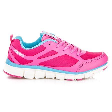 Klasické růžové sportovní tenisky se šněrováním, odstíny růžové, 36