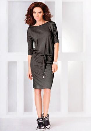 Numoco Šaty ve sportovním stylu šedé, velikost XL.