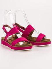 Stylomat Fuchsiové sandálky