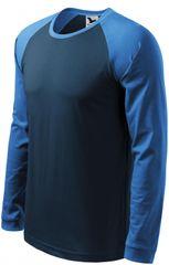 Malfini Pánske tričko s dlhým rukávom, kontrastné