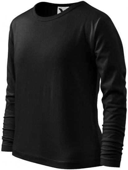 Malfini Čierne detské tričko s dlhým rukávom