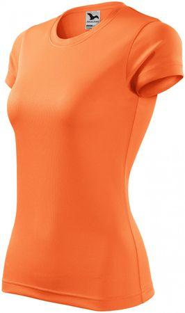 Malfini Neónové mandarinkové dámské sportovní tričko