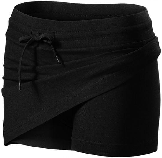 Malfini Čierna sukňa dámska 2v1
