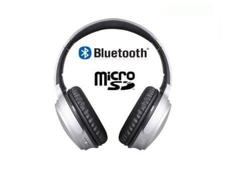 Trevi X-DJ 1301 BT, bežične bluetooth slušalice, sive