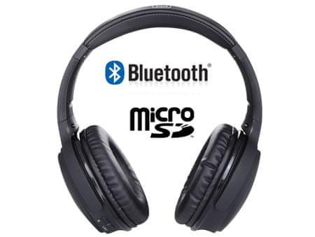Trevi X-DJ 1301 BT, bežične bluetooth slušalice, crne