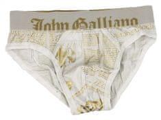 John Galliano Pánské slipy H095 bílá - John Galliano