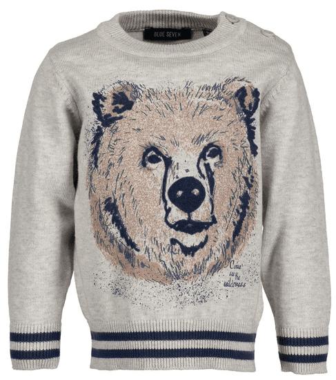Blue Seven chlapecký svetr s medvědem 62 béžová
