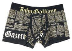 John Galliano Pánské boxerky H095 černá - John Galliano