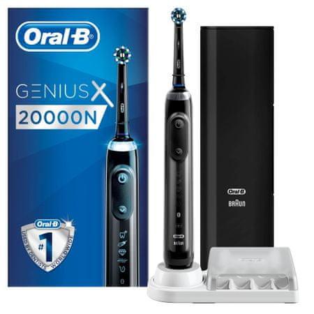 Oral-B Genius X 20000N Grey Cross Action električna zobna ščetka