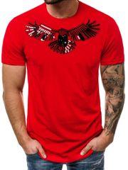 BUĎCHLAP Červené tričko s nášivkou orla B/2002