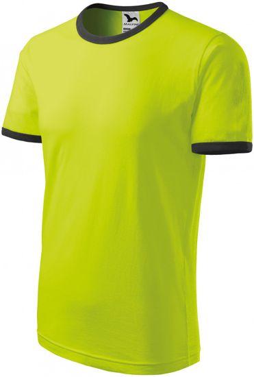 Malfini Limetkové unisex tričko kontrastní