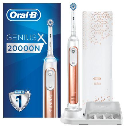 Oral-B Genius X 20000N Rose Gold Sensitive električna zobna ščetka