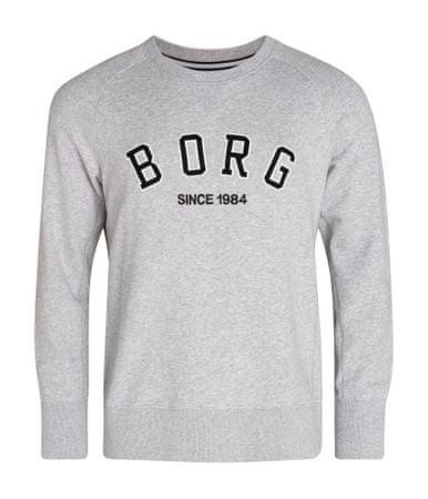 Björn Borg pánská mikina Crew Borg Sport M šedá