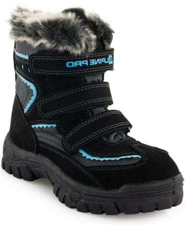 ALPINE PRO chlapecké zimní boty Ento 24 černá/modrá