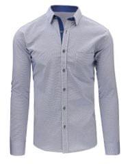 BUĎCHLAP Granátovo-biela košeľa s kontrastným golierom