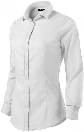 Malfini Premium Biela dámska blúzka s dlhým rukávom Slim fit