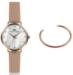 VictoriaWallsNY VWS049 komplet ženski ručni sat i narukvica