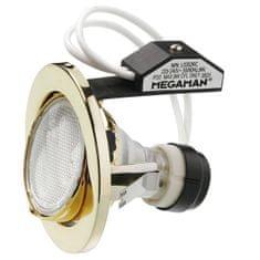 MEGAMAN MEGAMAN Zapuštěné svítidlo MEGAMAN L0302RC, 11W, GU10 – zlatá L0302RC GD