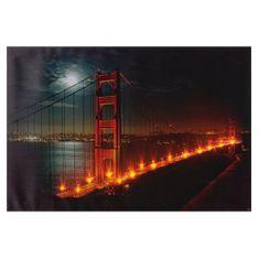HEITRONIC Heitronic LED obraz Golden Gate 600x400mm 34009