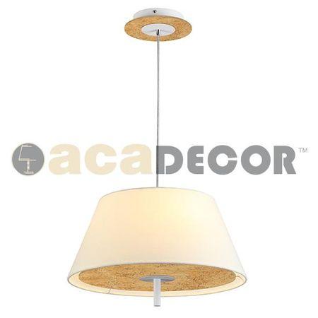 ACA ACA Lighting Textile závěsné svítidlo ZM16403PG