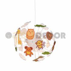 ACA ACA Lighting Dětské závěsné svítidlo MD160224ZOO