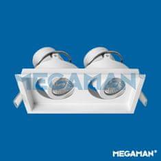 MEGAMAN MEGAMAN svítidlo ZEKI 50mm rám pro 2modul bílý F55852RC/WH26