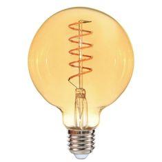 WELEDU Weleda LED dekoratívne žiarovka filament G80 E27 4W číra stmievateľná 2200K Amber