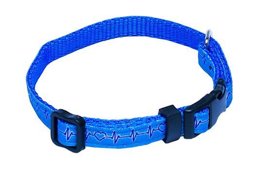 BAFPET Obojek popruh EKG 40-66 cm modrá