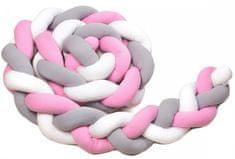 T-tomi pletena pletenica za dječji krevetić, 180 cm