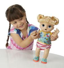 HASBRO Baby Alive Blond bábika s okuliarmi
