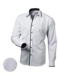 BUĎCHLAP Moderná biela košeľa V113